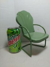 Vintage Pressed Steel Metal Doll Size Outdoor Patio Lawn Chair Furniture