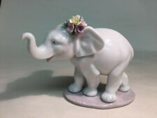 """Lladro porcelain figurines collectibles Lladro #6460 """"Lucky Srolling"""" elephant"""