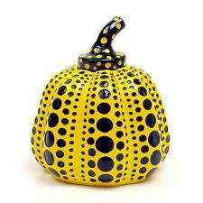 Yayoi Kusama Pumpkin Paperweight Object Sculpture Yellow Dots Loops