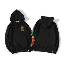 Men's A Bathing Ape Bape Monkey Head Casual Hoodie Pullover Long-sleeved Sweater