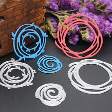 3pc Circles Cutting Dies Stencils DIY Scrapbook Album Embossing Card Paper Craft