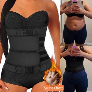 Latex Zip Up Body Shaper Women Waist Trainer Hot Trimmer Sweat Cincher Shapewear