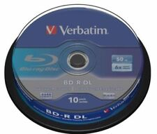 Blu-ray BD-R Dual Layer Verbatim in spindle/cake box per l'archiviazione di dati informatici