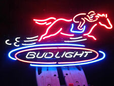 "Bud Light Horse Racing Game Neon Light Sign 20""x16"" Lamp Bar Man Cave Beer"