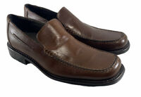 Bostonian Loafers Moc Toe Shoes Brown Leather Made Italy Mens Size Us 7.5 M
