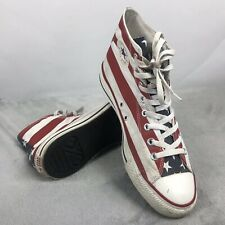 VTG Converse All Star Chuck Taylor Men 10 Women 12 American Flag Shoes Sneakers