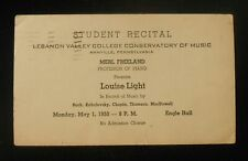 1950 Lebanon Valley College Conservatory of Music Louise Light Annville PA PLC