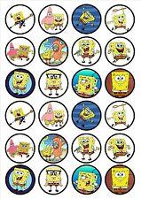 Eßbar Tortenaufleger Sponge Bob Schwammkopf DVD Muffin NEU 20 Stück backen Deko