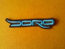 DORO,SEW ON BLUE EMBROIDERED PATCH
