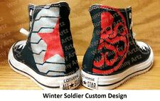 Custom hand painted Winter Soldier Converse All Stars canvas sneakers ~ New ~