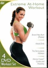 Extreme At-Home Workout 4-Disc DVD Set Pilates, Aikido and more REGION 1 NEW