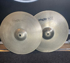 """More details for 14"""" paiste 402 hi hat cymbals #644"""
