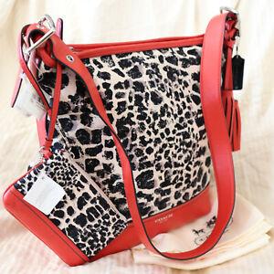 NWT COACH Ani Ocelot Cheetah Duffle Crossbody Shoulder Bag Purse+Wristlet $406