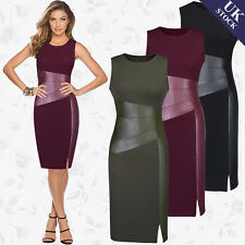 New Women Ladies Peplum Sheath Bodycon Dress Party Cocktail Midi Dress Plus Size