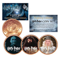 Harry Potter DEATHLY HALLOWS Colorized British Halfpenny 3-Coin Set (Set 6 of 6)
