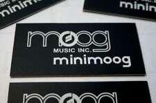 Moog Minimoog D Anodized Aluminum Logo Badges (SET OF TWO)