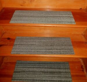 13  Step Indoor Stair Treads Staircase Step Rug Carpet  8'' x 24'' .