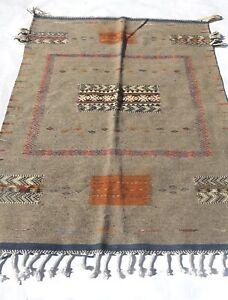 """moroccan rug berber Kilim Akhnif Medium Area Rug 5x3'3"""""""