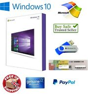 Genuine Scellé Coffret Microsoft Windows 10 Pro Professional Retail   USB 32/64Bit
