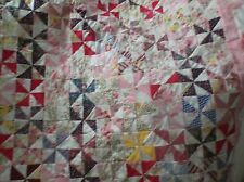 HANDMADE BABY PINWHEEL QUILT  OR TABLE/WALL QUILT ~~` 4 INCH SQ..MADE IN AMERICA