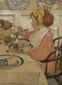 Jessie Willcox Smith Then The Epicure Giclee Art Paper Print Poster Reproduction