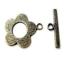 10 Set tono bronzo LEGA grandi Toggle Fermagli-A6435