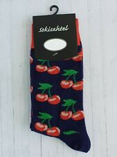 Women's Cherry Socks (Pair) Fun Fruit Pattern