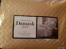 Charter Club Damask Quilted Solid King Coverlet & Shams Set Sunglow