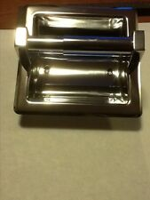 Brand new harney hardware polished stainless steel recessed toilet paper holder