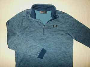 UNDER ARMOUR COLD GEAR 1/4 ZIP LONG SLEEVE BLUE PULLOVER MENS MEDIUM EXCELLENT
