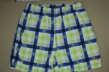 Tommy Bahama Relax Swimsuit Men's Size M Yellow Blue Checked Trunks Mesh Lined