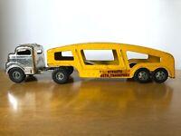 VINTAGE TRUCK STRUCTO HAULER carrier AUTO CAR TRANSPORT SEMI toy chrome TRAILER