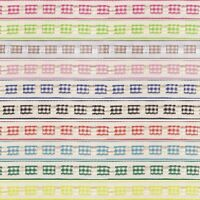 Berisfords 12mm Gingham Ruffle Effect Ribbon Essential Craft