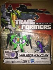 Acid Storm and Venin Thrilling 30 100% Complete Legends Generations Transformers