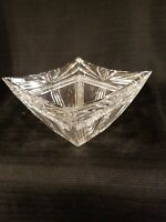 """MARQUIS BY WATERFORD 6"""" CRYSTAL ODYSSEY PATTERN SQUARE VASE/BOWL"""