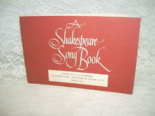 A SHAKESPEARE SONG BOOK BY EDGAR HUNT PAPERBACK 1957
