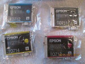 EPSON T0715 Cheetah Genuine Multipack Ink Cartridges