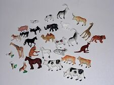 29 Plastic Animals Vintage Hong Kong Farm Jungle Plastic Figures Cake Toppers