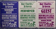 1984 New Orleans Jazz & Heritage Festival Ray Charles Al Green Backstage Passes