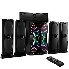 Frisby Audio 125 Watt 5.1 Channel Home Theater System/Bluetooth/USB RGB Lighting