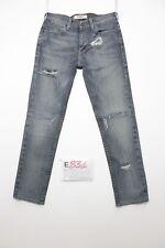 Levi's 519 slim custom accorciato boyfriend jeans usato (Cod.E831) Tg 45 W31 L32