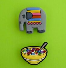 Crocs Jibbitz Charms *Elephant & Cereal Bowl Froot Fruit Loops*  NEW with Tags!!