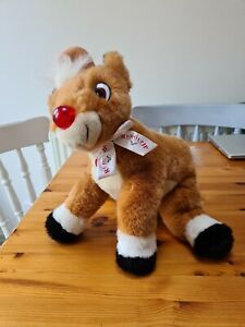 The Rudolph Company Red Nose Reindeer Plush Toy. Musical and nose lights up