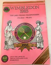Official Wimbledon Program celebrating the 100th Ladies Championship in 1993