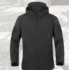 Mens Hunting Outdoor Army Military Special Ops Softshell Tactical Jacket Black L