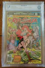 Red Sonja She-Devil With A Sword #1 CBCS 7.5 F.Thorne Marvel Comics not CCG PGX