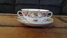 Royal by Bavaria - Two-Handled Flat Soup Bowl with Saucer