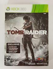 Tomb Raider (Microsoft Xbox 360, 2013) with Comic Book The Beginning