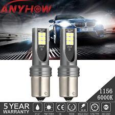 2pcs 1157 1156 Led Fog Light Bulbs Drl Reverse Lights White Headlight Upgrade Us