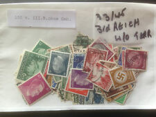 100 Different Germany 3rd Reich (1933/45 without Territories) Stamp Collection